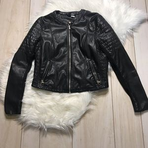 H&M Divided Girls' Faux Leather Black Jacket